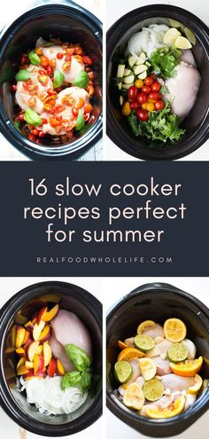 Don't put away that crockpot just yet! Put it to use this summer to keep your kitchen cool and try these 16 hands-off slow cooker meals that will allow you to play all day and still come home to a delicious, healthy, easy dinner. Slow Cooker Stew Recipes, Slow Cooker Baked Beans, Healthy Slow Cooker, Slow Cooker Soup, Healthy Crockpot Recipes, Slow Cooker Chicken, Real Food Recipes, Delicious Meals, Potluck Side Dishes
