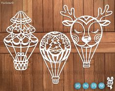 by FoxSister on Etsy Christmas Svg, Xmas, Air Balloon, Balloons, Tree Templates, Tree Svg, Stencil Material, Decorate Notebook, Vinyl Paper