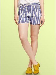 Ikat canvas shorts | Gap $41