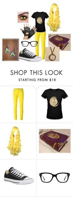 """Bill Cipher Cosplay"" by homurataiga ❤ liked on Polyvore featuring Versace and Converse"