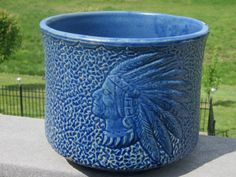 Nelson McCoy Pottery Indian Motif Jardiniere by LeftoverStuff, $200.00
