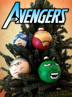 Avengers Assembling for the holidays! Check out these Iron Man, Captain America, Hulk, and  Thor hand painted Christmas ornaments  available as a team or individually! Great gift for any superhero fan!
