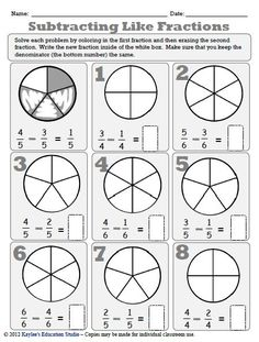 math worksheet : 1000 images about math fraction worksheets on pinterest  : Fraction Worksheets