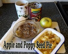 This is an unusual and delicious apple pie with extra texture and flavour that comes with the addition of poppy seeds. The recipe uses mainly ready-made ingredients, thus cutting down on time and avoiding culinary mishaps. Pie Recipes, Great Recipes, Dessert Recipes, Desserts, Cooked Apples, Low Cholesterol, Recipe Using, Poppy, Sweet Treats