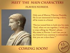 Introducing the main characters of the soon-to-be-released historical fiction novel. Historical Fiction Novels, We Are Together, Ancient Rome, Bookstagram, His Eyes, Book Lovers, Writer, Characters, History