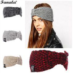 >> Click to Buy << FANALA Women Knitted Turban Headbands Women Winter Warm Crochet Headband Head Bow Warmer Hairband Hair Accessories #Affiliate