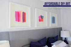 Simple DIY Artwork for the Bedroom