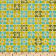Joel Dewberry Notting Hill Cotton Voile Square Petals Citron