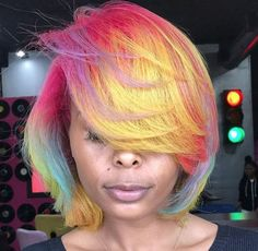 Dope vibrant colors via @kellzatlstylist - https://blackhairinformation.com/hairstyle-gallery/dope-vibrant-colors-via-kellzatlstylist/