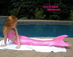 Beautiful Mermaid Tail with Monofin Option. by CoolTailzAndMore, $36.00