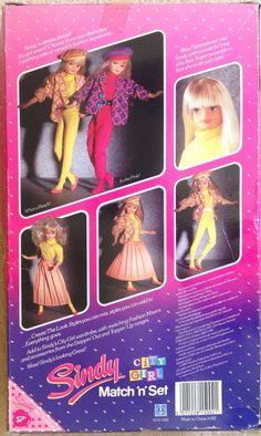 Vintage Sindy City Girl Match 'N' Set 1987 by Hasbro New in Box | eBay