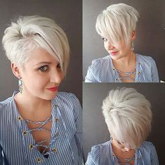 10 Cute Short Haircuts for Women Wanting a Smart New Image, .- 10 Cute Short Haircuts for Women Wanting a Smart New Image, 2019 Short Hairstyles Best Short Haircut for Women, Cute Short Hairstyle Designs - Nice Short Haircuts, Short Blonde Haircuts, Cute Hairstyles For Short Hair, Short Hair Cuts For Women, Curly Hair Styles, Bob Haircuts, Bob Hairstyles, Haircut Short, Ladies Hairstyles