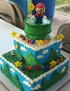 Amazing Mario Birthday Cake  Jokeroo cakepins.com
