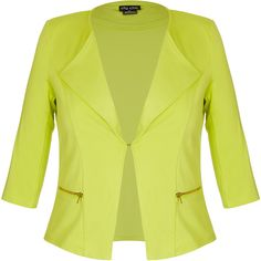 City Chic Coloured Zip Blazer Jacket (1,685 MXN) ❤ liked on Polyvore featuring outerwear, jackets, blazers, blazer jacket, zipper blazer, zipper jacket, ponte blazer and ponte knit jacket