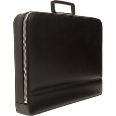 Modern Black Leather Case, by Valextra. Men's Fall Winter Fashion.