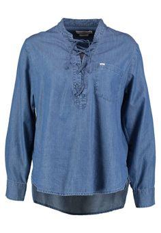 Lee DRAWCORD - Overhemd - indigo - Zalando.nl Denim Button Up, Button Up Shirts, Indigo, Blouse, Mens Tops, T Shirt, Outfits, Fashion, Supreme T Shirt