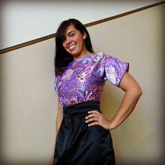 Purple Boatneck Dress Vintage Inspired Dress by StitchPrincess, $150.00 SELLING on Etsy.
