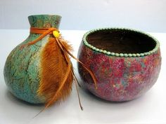 DIY Gourd Art: Filigree, Dyeing, and Knotting - YouTube