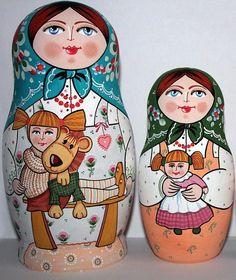 Two Matryoshkas - Russian nesting dolls.
