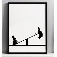 Modern Wall Art Canvas Prints and Artwork UK Framed Prints, Poster Prints, Canvas Prints, Art Prints, West Elm, British Home Decor, Bunny Art, Bunny Pics, Bunny Room