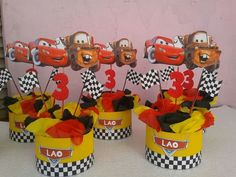 Ideas para cumpleaños temático de Cars Pixar Cars Birthday, Race Car Birthday, 3rd Birthday, Car Themed Parties, Cars Birthday Parties, Lightning Mcqueen Party, Disney Cars Party, Car Themes, Theme Ideas