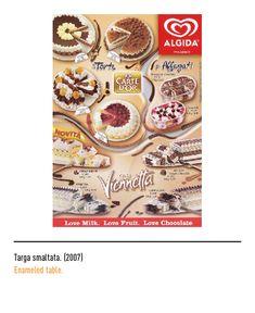 The history of the Algida's trademark Ice Cream Brands, Cimorelli, Milk, Bread, Chocolate, Fruit, History, Vintage, Sweets