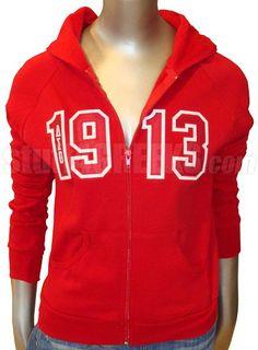 Red Delta Sigma Theta 1913 Zip-Up Hoodie