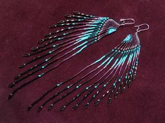 Swan Designs Spiritually Inspired Long Earrings by MauiSwanDesigns, $125.00