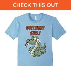 Mens Kids Birthday Girl Snake T-Shirt - Reptile Gift Shirt Small Baby Blue - Birthday shirts (*Amazon Partner-Link)