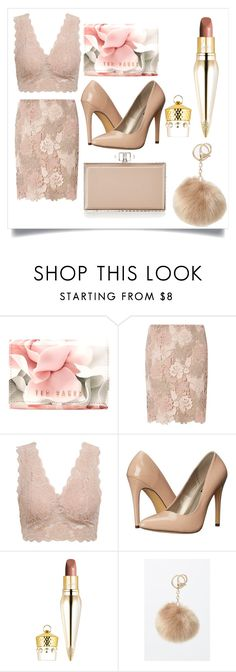 """""""Untitled #660"""" by fashionqueen556 ❤ liked on Polyvore featuring Ted Baker, Dorothy Perkins, Michael Antonio, Christian Louboutin, LA: Hearts and Judith Leiber"""