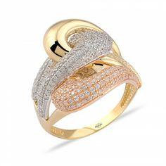 Üç Renk Şık Altın Yüzük : www.altinalalim.com #altin #altinyuzuk #gift