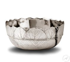 Natura – Italian Pewter Bowl Hand Crafted Exclusive Design – thatsArte.com
