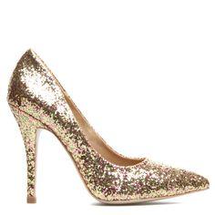 Kiana glitter heels. Festive!