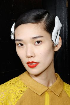 Hair by Guido Palau for Redken. Make-up by Dick Page for Shiseido. Marc by Marc Jacobs Fall 2012.