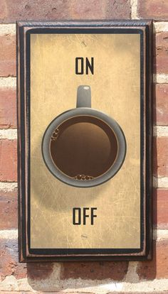 Antique Finish Coffee On or Off Switch Vintage Style by CrestField. #coffee #wallplaque
