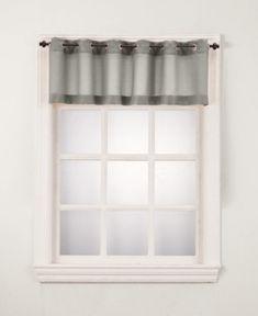 """Lichtenberg No. 918 Montego 56"""" x 14"""" Grommet Curtain Valance  - Silver"""