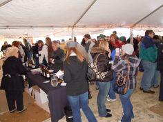 Frozen Tundra Wine Fest (outdoors), Feb. 23, 2013, Kewaunee Wisconsin