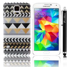 FiveBox Hard Shell Series Retro Vintage Tribal Nebula Pattern Hard Case Cover Back Skin Protector for Samsung Galaxy S5 SV I9600 + fivebox clean cloth + FiveBox Stylus Pen:Amazon:Cell Phones & Accessories