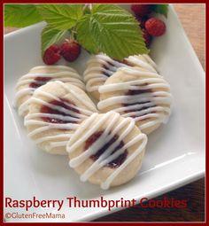 Gluten Free Mamas Blog: Gluten Free Raspberry Thumbprint Cookies