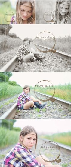 Tween session on the railroad - tanya zaleski photocreations - Montreal's South Shore child photographer