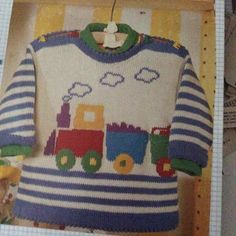 Inspiration Only, Like The Colors - Maal - Diy Crafts Baby Boy Knitting Patterns, Jumper Knitting Pattern, Sewing Patterns For Kids, Knitting For Kids, Baby Boy Sweater, Knitted Baby Cardigan, Baby Vest, Baby Sweaters, Diy Crafts Knitting