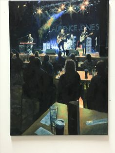 """Headlining No.2"" oil on canvas inspired by the Laurence Jones band at The Grand Venue, Clitheroe."