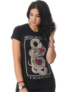 Metal Mulisha Black Serpent Crew Womens T-Shirt | Metal Mulisha | FreestyleXtreme | United Kingdom