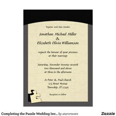 Puzzle Piece Wedding Invitations with good invitations layout