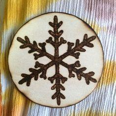 Wood burned ornament • Christmas • holidays • winter decor by MShelsJewels on Etsy https://www.etsy.com/listing/462126930/wood-burned-ornament-christmas-holidays