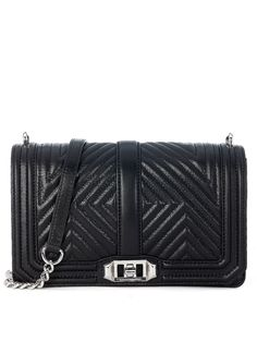 REBECCA MINKOFF Rebecca Minkoff Crossbody Bag In Black Quilted Leather. #rebeccaminkoff #bags #shoulder bags #leather #crossbody #