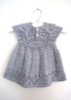 Pippa Dress knitting pattern by Suzie Sparkles, . Pippa Dress knitting pattern by Suzie Sparkles, Source Lace Patterns, Baby Knitting Patterns, Dress Patterns, Pretty Patterns, Knitting Stitches, Knitting Ideas, Crochet Baby, Knit Crochet, Pippa Dress