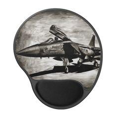 F-15 Eagle fighter jet Gel Mouse Pad Custom office supplies #business #logo #branding