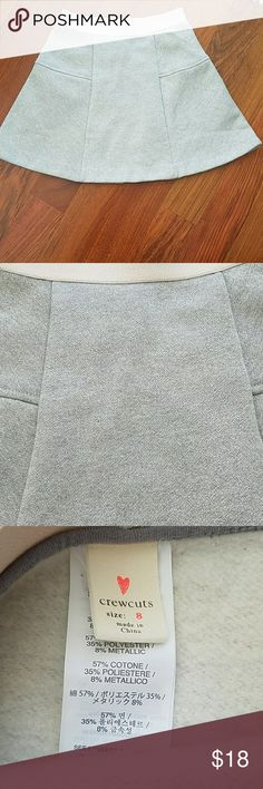 """Crew cuts skirt sz8 Adorable and brand new! Great with silver sparkle. 22""""  ELASTIC waist. 13""""length. Fun and sporty! J. Crew Bottoms Skirts"""
