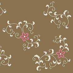 Flower Stencils   Oriental Floral Vine Elements   Royal Design Studio